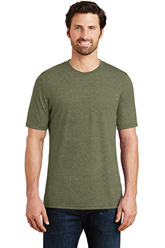 District Made Men's Perfect Tri Crew Tee. DM130, Military Green Frost, 4XL
