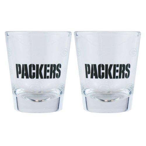NFL Shot Glass Cup (Set of 2) NFL Team: Green Bay - Eyewear Berkeley