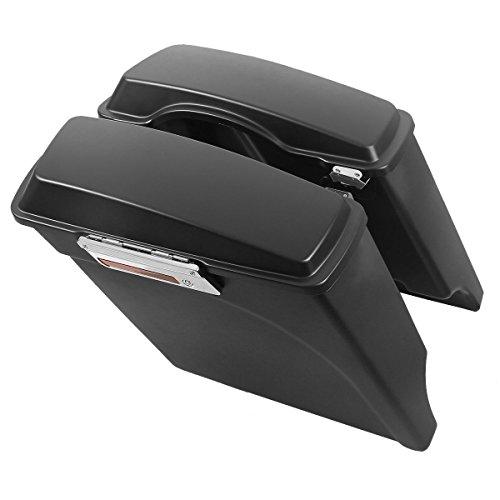 TCMT Motorbike Saddlebag Trunk Fits for Harley Electra Glide 93-13 Road Glide 98-13 Tour Glide 93-96 ()