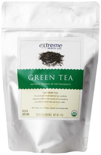Extreme Health Organic Green Tea, Loose Leaf, 4 Ounce Bags (Best Green Tea Brand For Health)