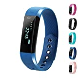 Fitness Tracker, LCStream Smart Watch Health Bracelet Activity Tracker with Step track, Calories track, Sleep monitor, pedometer for iOS and Android (Navy)
