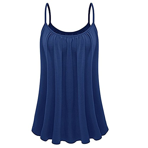 UOKNICE July Fourth T Shirts for Women Graphic,Womens Loose Sleeveless Plus Size Solid Color Cami Basic Camisole Tank Top Vest