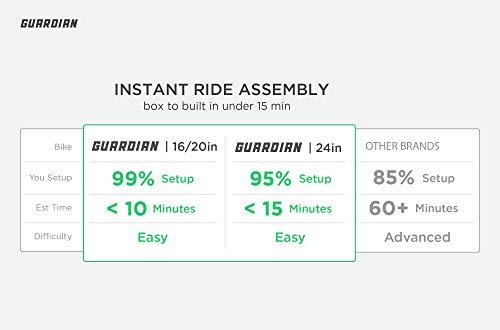 Guardian Lightweight Kids Bike 24 Inch, Safe Patented SureStop Brake System, Kids Mountain Bike, Bike Sizes for Kids 4'2'' - 5'1'', Boys Bikes and Girls Bikes (AS SEEN ON Shark Tank) by Guardian Bikes (Image #2)