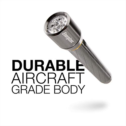 Energizer LED Metal Flashlight, 600 Lumens Bright LED, Durable Aircraft-Grade Metal Body, IPX4 Water-Resistant, 3 Modes ()