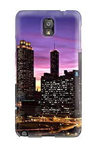 Anti-scratch And Shatterproof City At Night 12 I4399tjn53 Phone Case For Galaxy Note 3/ High Quality Tpu Case