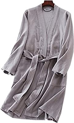 Amoy madrola Women Woven Cotton Soft Bathrobe Robe Homewear Robe231