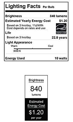 Westinghouse Lighting 5145000 10 (75-Watt Equivalent) PAR30 Flood Dimmable Bright White Indoor/Outdoor Energy Star LED Light Bulb