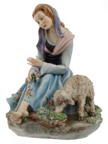 - Capodimonte Girl Figurine with Goat Germano cortese 326 - NEGR33