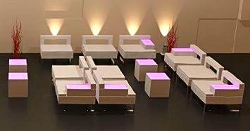 10er Set Sofa Cubix Right Design Lounge Pu Leder 2 Personen