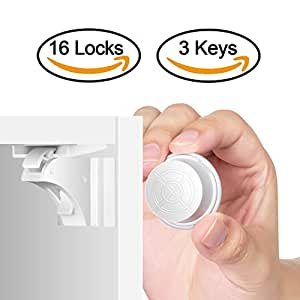 Amazon Com Child Safety Magnetic Cabinet Locks 16 Locks