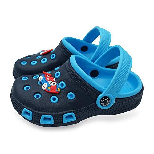 Namektch Toddler Little Kids Clogs Slippers Sandals, Non-Slip Girls Boys Slide Lightweight Garden Slip-on Shoes Beach Pool Shower Slippers (9.5-10 M US Toddler, Blue)