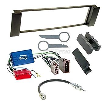 Radioanschlusskabel VW Fox 05-11 1-DIN Autoradio Einbauset in original Plug/&Play Qualit/ät mit Antennenadapter Zubeh/ör und Radioblende//Einbaurahmen schwarz