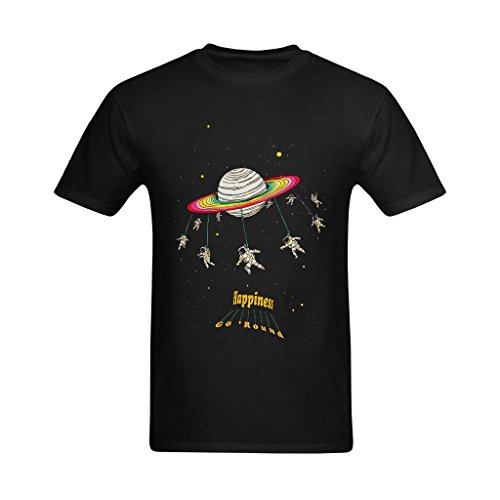 Happiness Organic Cotton Tee - Fashion-In Men's Happiness Go Around Space
