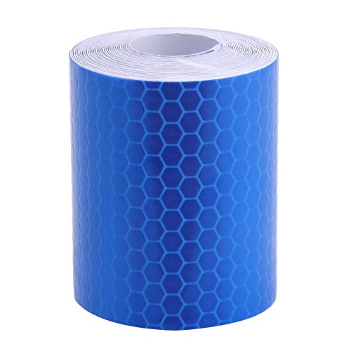 Awakingdemi 5300cm Car Reflective Tape Stickers Car Styling for Automobiles Safe Car Truck Motorcycle Cycling Reflectors (Blue)