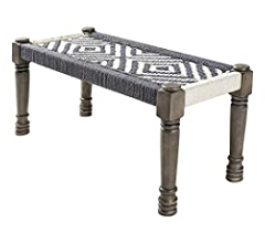 18 x 39 x 16 Artistic Weavers Kauri Global Jute Woven Bench Tan