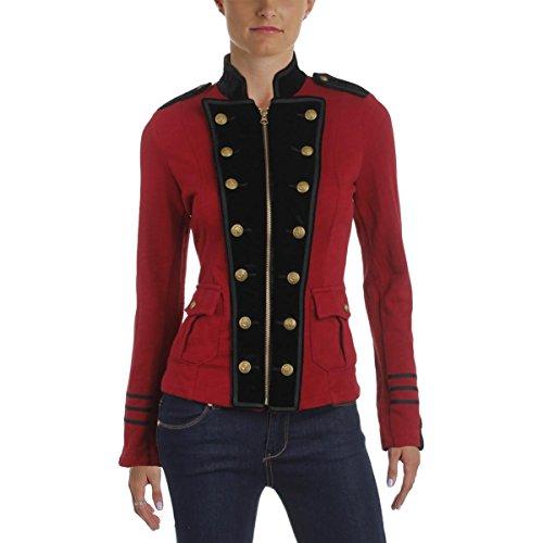 Polo Ralph Lauren Denim & Supply Ralph Lauren Womens Velvet Trim Military Jacket Red M