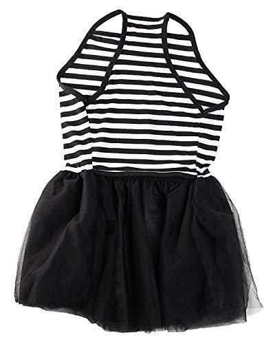 Pictures of Midlee Elegant Black & White Stripe Tutu Large 2