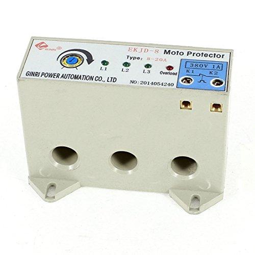 DealMux EKJD-8 3 Phase 8-20 Ampere Adjustable Current Motor Circuit Protector