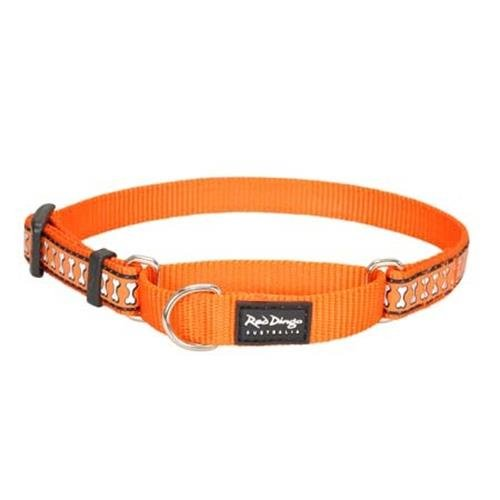 Red Dingo Reflective Orange Medium Martingale Collar