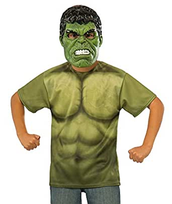 Incredible Hulk Boys T Shirt And Mask Size S