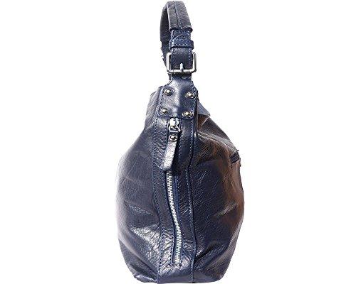 de 28 hombro mano auténtica piel 35 cm hecho × Azul de × Bolsos 10 en Ascona Shopper a Italia ZxnEz