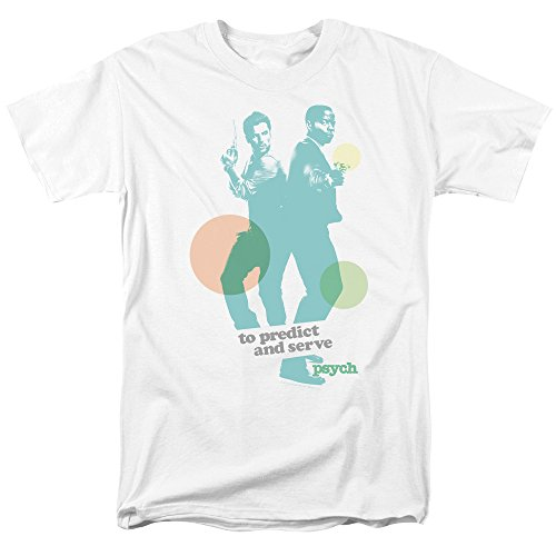 Trevco Men's Psych Short Sleeve T-Shirt, Predict White, Large