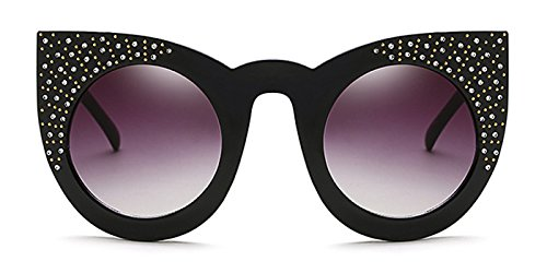 Slocyclub Retro Bling Cat Eye Round Lens - Sunglasses Oliver Peoples Like