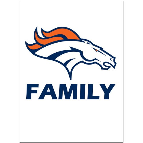 NFL Denver Broncos Team Pride Auto (Broncos Family Decal)