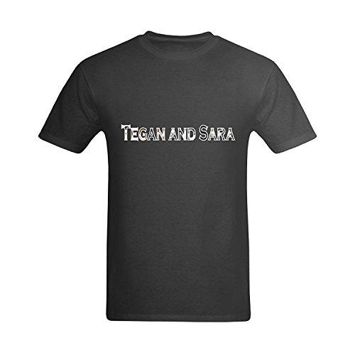 LittleArt Men's Tegan And Sara T-Shirt - Cool T Shirts US Size 5 -