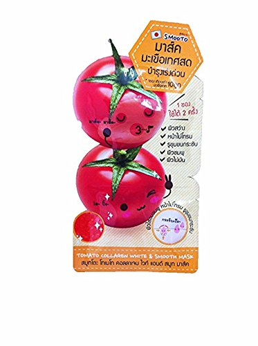 Tomato Collagen White   Smooth Mask   1 Pack Available 2 Times For Use   10 G  1 Pack