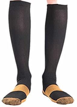 gmgm Men's Ultra-Light Comfort Warm Compression Socks Black M