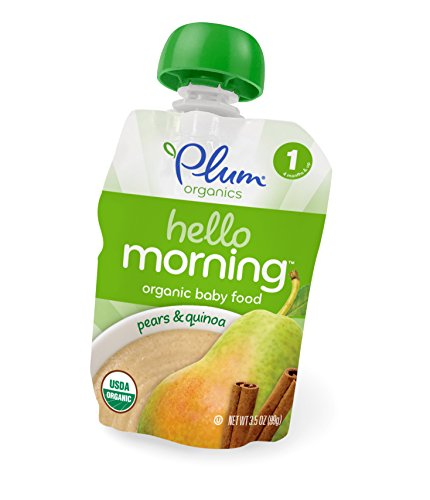 Plum Organics Hello Morning Cereal, Pears and Quinoa, 3.5 Ounce (Pack of 6)