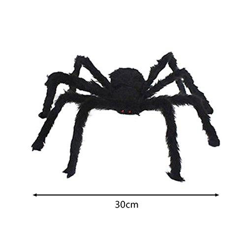 AMZLUCKY - 1Pcs New Halloween Horrible Big Black Furry Fake Spider Size 30cm,50cm,75cm Creep Trick Or Treat Halloween Decoration