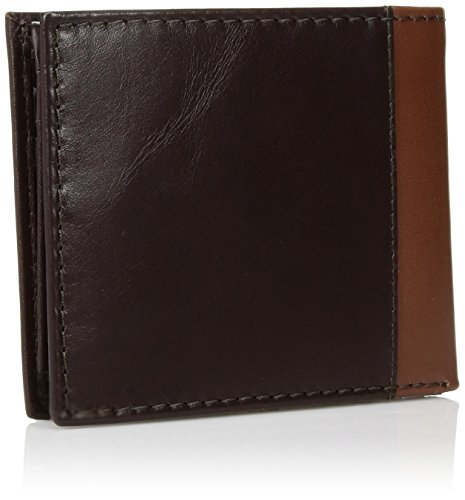 Tommy Hilfiger Men's Melton Passcase Billfold,Brown,One Size