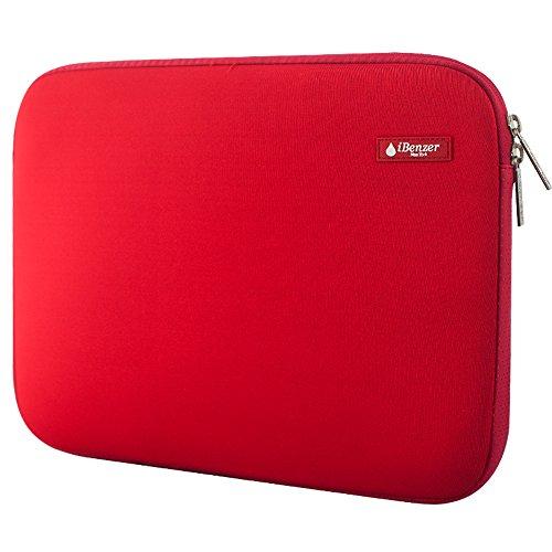 iBenzer - Deluxe Laptop-Hülsen-Beutel-Abdeckungs-Fall für alle 13-Zoll-Laptop-Computer - Macbook Pro 13 '' / Macbook Air 13 '' / Macbook Pro 13 '' mit Retina-Display (Rot BH-MP13RD)
