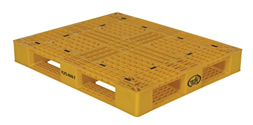 Vestil PLP2-4840-YELLOW Yellow Polyethylene Pallet with 4 Way Entry, 6600 lbs Capacity, 39.5