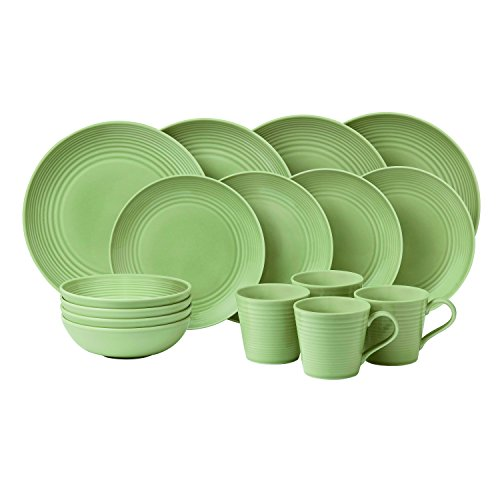 Royal Doulton Maze Sage 16 Piece Set, Green