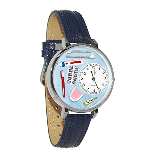 (Whimsical Watches Unisex U0620001 Dentist Baby Navy Blue Leather Watch)