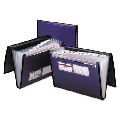Document Esselte Wallet Letter Pendaflex (Pendaflex Expanding Document Organizer, Letter, 7 Pockets, Blue (PFX52670))