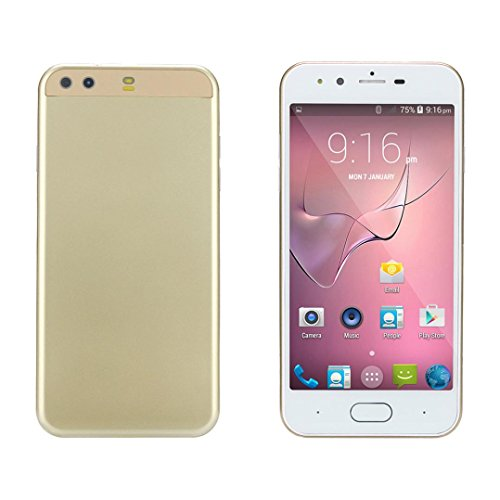 SIM Card Mobile Phone - Dual HD Camera Smartphone Android IPS Full Screen GSM/WCDMA 4GB Touch Screen WIFI Bluetooth GPS 3G Call Mobile Phone (Gold) ()