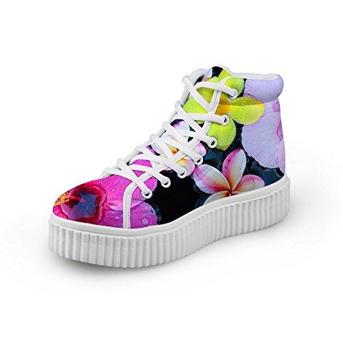 Knuffels Idee Bloem Meisjes Dames Hoge Schoenen Sneakers Bloemen 6