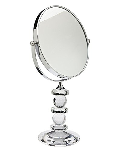 Godinger Mirror - Godinger 44544 Faceted Crystal Mirror with Stand