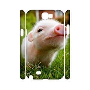D-PAFDLittle Pig Customized Hard 3D Case For Samsung Galaxy Note 2 N7100