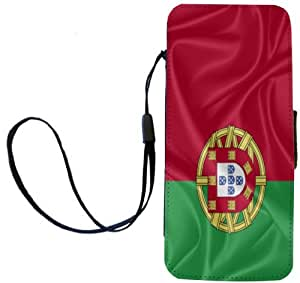 Rikki Knight Portugal Flag Flip Wallet iPhoneCase with Magnetic Flap for iPhone 5/5s - Portugal Flag