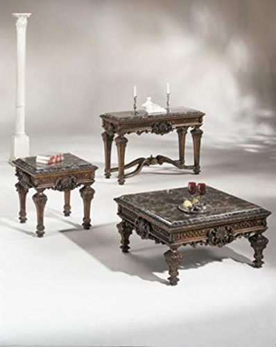 Antique Marble Coffee Table - 5