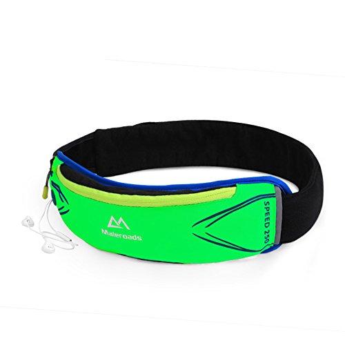 Ejecución de los bolsillos de los deportes/Correr maratón/Bolso al aire libre campo a través/Paquetes de teléfono móvil personal-negro verde
