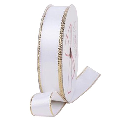 Decorative Riband Ribbon For Party/Wedding Bright Colours Riband, White by Kylin Express