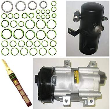 FS10; 8-Groove A//C Compressor Kit Compatible with 1994-1997 Ford F-350 7.3L V8 Diesel