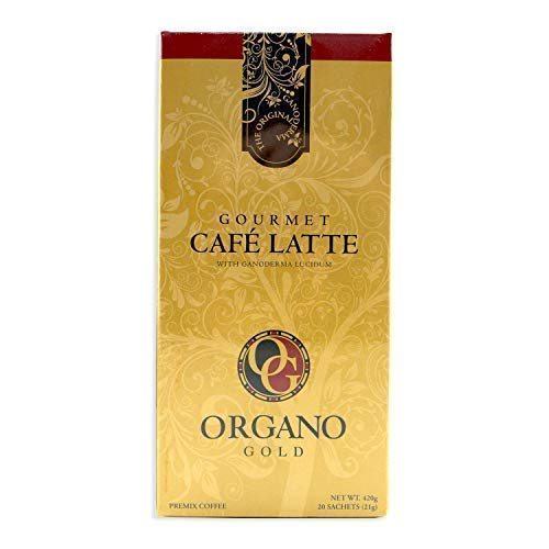 8 Boxes Organo Gold Gourmet Cafe Latte with 100% Organic Ganoderma Lucidum Extract - HOS by Organo Gold (Image #2)