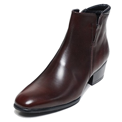 Epicsnob Mens Shoes Brown Genuine Cow Leather Dress Formal Casual Classic Ankle Boots 9 M US